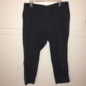 Old Navy Charcoal Cropped Pants